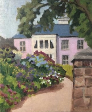 Pink house, seaside town