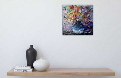 Vase with flowers floral art, gift ideas, online gallery, paintings for sale Ireland