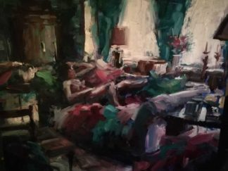 Idle Moments Original oil painting by Irish artist Norman Teeling. Art for sale in online gallery. Browse more of Normans work here