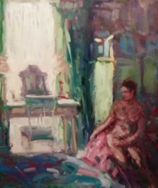 Contemplation Original oil painting by Irish artist Norman Teeling. Art for sale in online gallery, browse a large selection of art here