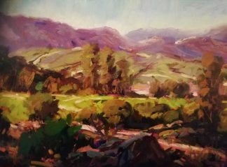 Across the Hills Howth landscape painting by Irish artist Norman Teeling, art for sale in online gallery