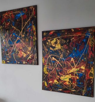 VICTORY abstract painting for sale by Irish artist Noreen Gallagher, painting for sale in Ireland