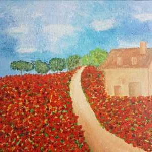 Original landscape painting by artist Dorota Raczynska. Online gallery to buy art for your home, gift ideas
