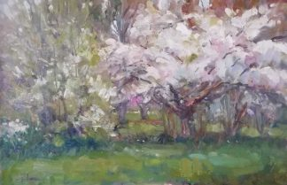 First Blossoms Original landscape painting by Irish artist Norman Teeling. Fine art for any room in your home for sale in online gallery