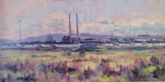 Original Irish seascape / landscape painting of Dollymount for sale by Norman Teeling in online gallery. Browse more of Normans work here