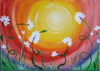 Original floral painting- Relaxation by artist Justyna Szerszen. Stunning art for any room in your home. Browse a variety of art here now