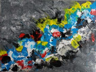Bitter and sweet Original abstract art. Bright and colourful painting for your home for sale by artist Justyna Szerszen in online gallery
