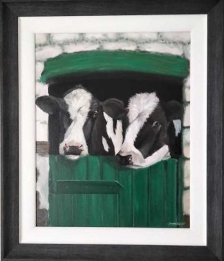 Joan and Betty in the shed