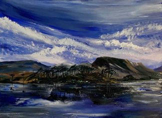 Pine Island Original oil painting by artist Paul Crozier. Landscape art for your home. Browse a large variety of art here today