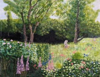 The garden Original landscape painting for sale in online gallery by artist Ali Howell. Art for your home. Browse more art for sale here