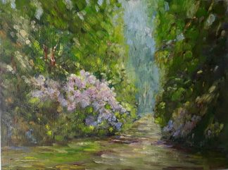 Original Irish landscape painting of Co.Kerry by Irish artist. Stunning art for your home or a gift idea for garden or Killarney lovers