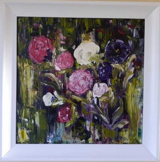 Flower Bouquet Original floral art by Irish artist. Gift ideas, painting of flowers. Art for your home, make a house a home