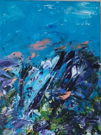 Original abstract painting. Cheery art for your home by Irish artist. Browse a large selection of paintings here