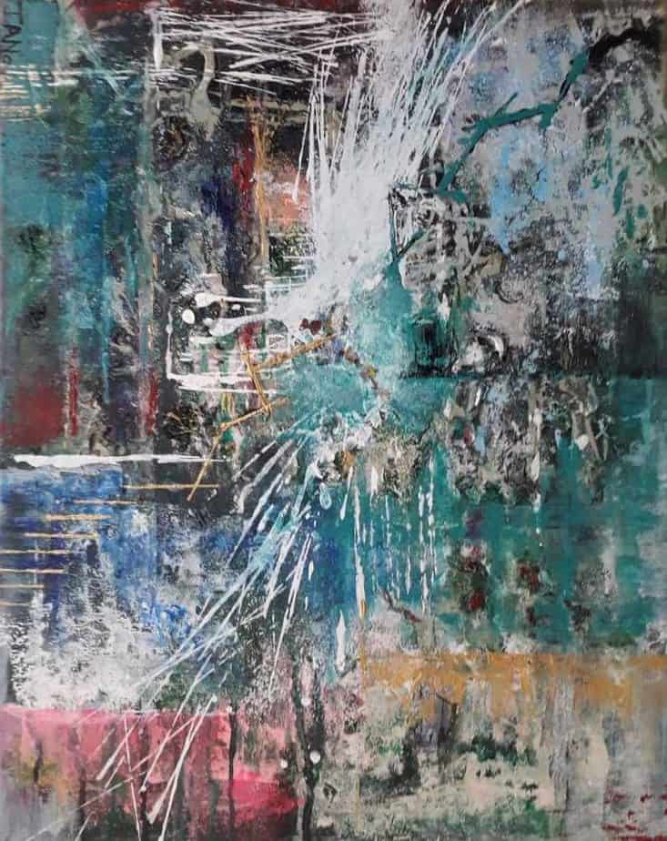 Original abstract painting. Stunning colours in this acrylic art mesmerizing and unique art perfect for your home or office space