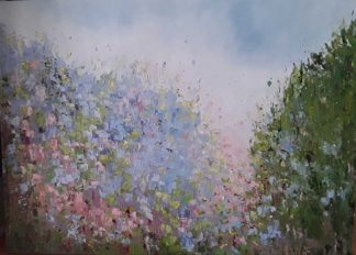Original floral and landscape painting for sale in online gallery by Irish artist. Browse a large selection of paintings for sale here