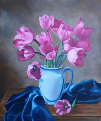Tulips Original still life floral painting of Tulips. Stunning art for your home or a great gift idea for someone special