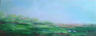 Green Spirit Original landscape painting by Irish artist Therese O'Keeffe. Stunning art for your home or gift ideas for someone special