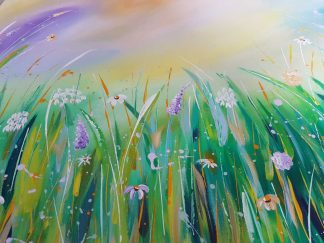Original abstract painting. Floral art for sale. Online gallery, browse a large selection of art for sale for your home