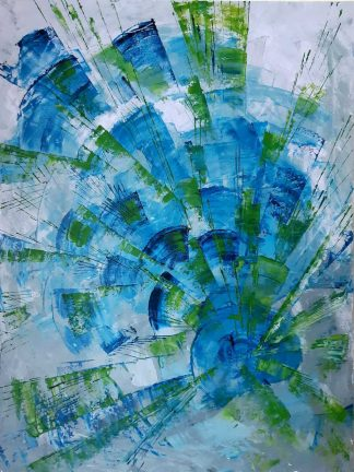 Original abstract painting of blue for sale in online gallery where you'll find a large variety of Irish art