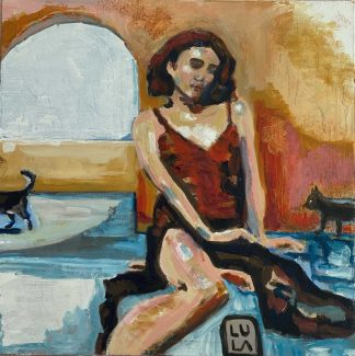 Original colourful figurative art. Painting for sale in online gallery. Browse a large selection of art here today.