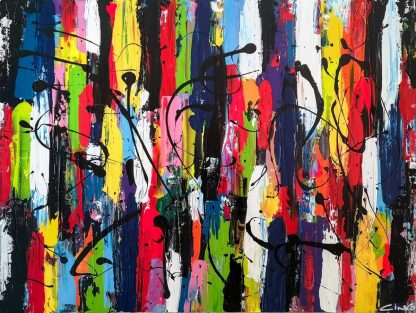Original bright abstract painting by Irish artist Ciano. Stunning wall art for your home. Brighten up my home with original art