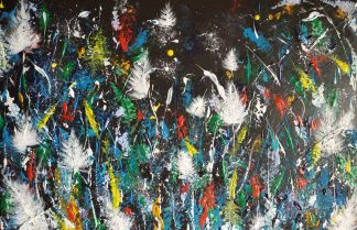 Original abstract floral painting for sale in online gallery. Art suitable for your home or office space. Large variety of art to suit all