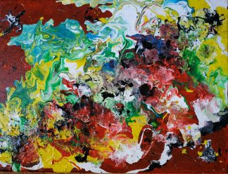 Original abstract painting for sale in online gallery. Stunning bright and colourful art to suit any room in your home