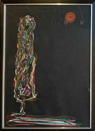 It's Just Me Abstract Figurative painting by Irish artist Kevin Sharkey.
