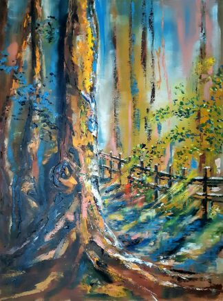 Original sunset landscape painting for sale. Stunning quality art for your home. Exceptional painting, office, apartment, corporate art