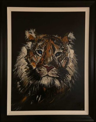 Theo Original abstract painting of a Tiger. Stunning colours and details in this animal art to suit any room in your home