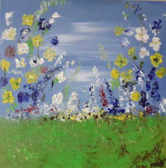 Original abstract floral painting for sale in online gallery by Irish artist. Browse and shop a huge variety of art for your home here