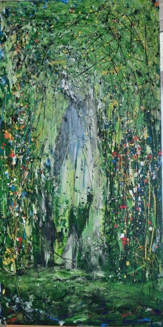 Enchanted Original abstract painting for sale in online gallery. Beautiful quality art for your home. Browse a large selection of art for sale here