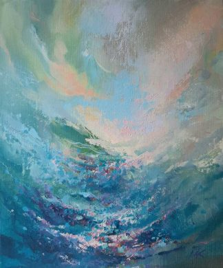 Original abstract seascape painting for sale in online gallery. Browse a large selection of art for sale here
