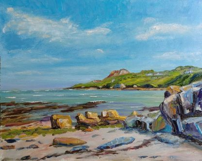 Original Irish art by Irish artist John Maguire. Painting of Howth Co.Dublin. Stunning seascape art for your home or gift idea