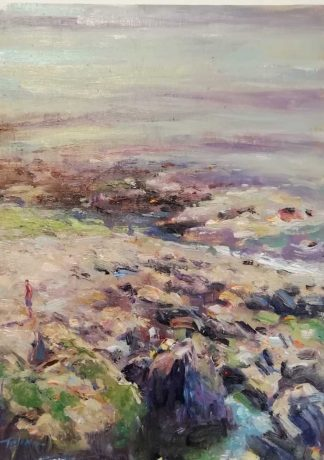 Original Irish art by Irish artist Norman Teeling. Painting of Howth. Browse a large selection of his work in online gallery art4you.ie