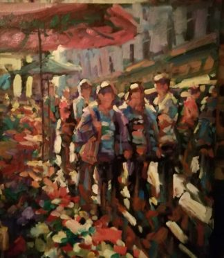 Original Irish art by Irish artist Norman Teeling. Painting of Grafton St Dublin. Browse a large selection of his work in online gallery