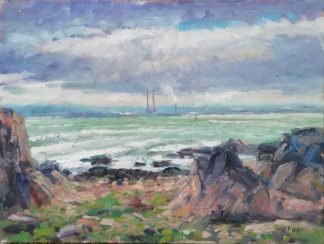 Original seascape painting of Howth by Irish artist Norman Teeling. Stunning quality art for any room in your home