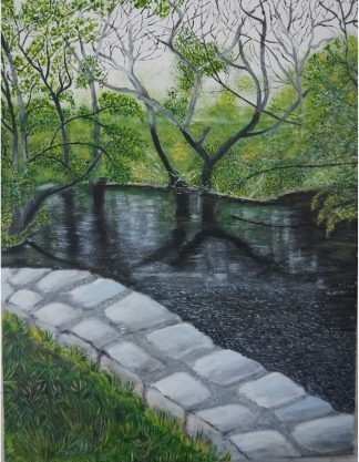 Original Irish landscape painting for sale in online gallery. Paintings of rivers in Co.Cork. Browse a large selection of art here