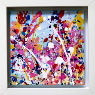 Original colourful joyous art for sale by Irish artist. Bright painting for any room in your home- gift ideas for family