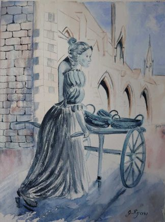 Original Irish art by Irish artist. Painting of Molly Malone. Browse a large variety of Irish art here, paintings for sale