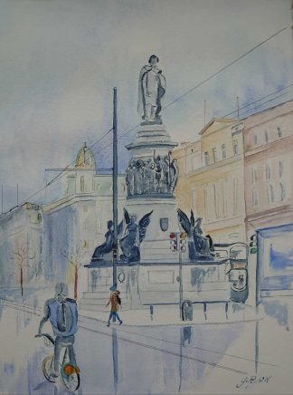 Original Irish art by Irish artist. Painting of O'Connell St in Dublin. Browse a large variety of Irish art here, paintings for sale