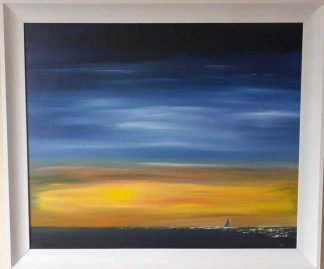 Stunning painting of the sunset over the sea. Original art for your home. Gift ideas that last a lifetime. Browse a huge variety here