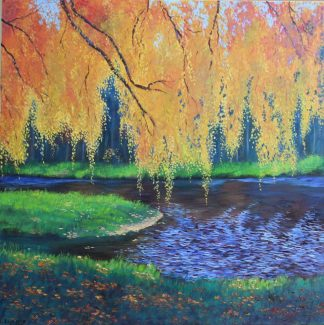 Original landscape painting. Exceptional quality art for your home with beautiful colours. Browse more art here