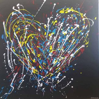 Original art of an abstract love heart. Stunning art for your home or gift idea for someone special for any occasion