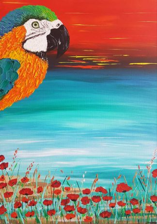 Original painting for sale in online gallery. Beautiful colours full of life with a holiday feel. Browse a large variety of art for sale here