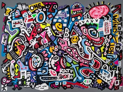 Original painting. Funky art for your home or office. Corporate art, paintings for sale in trusted online gallery.