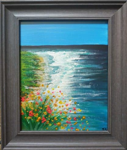 Stunning seascape painting for sale in trusted online gallery. Fabulous colours in this breath taking painting
