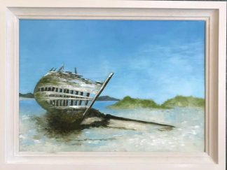 Original Irish seascape art by Irish artist. Painting of Donegal. Would make a stunning gift or a place in your home