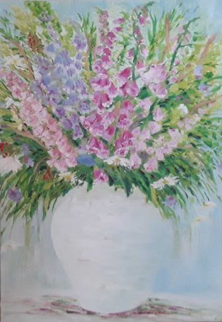 Original floral painting for sale in Irish online art gallery. Art by Irish artists. Browse a huge variety of art here