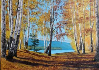Original landscape painting during Autumn for sale. Stunning quality art for your home. Browse a huge variety of art for sale here
